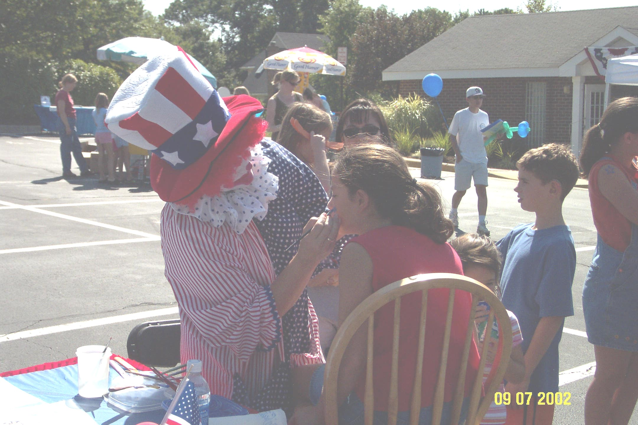 Face Painting With Clown